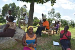The Water Project: Musango Community, Jared Lukoko Spring -  Participants Following Handwashing Steps