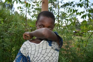 The Water Project: Musango Community, Ham Mwenje Spring -  Cough And Sneeze Into The Elbow Like This