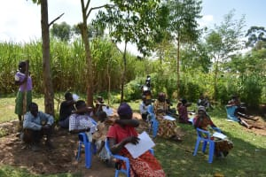 The Water Project: Musango Community, Ham Mwenje Spring -  Coughing Into Elbow Reduces Virus Spread