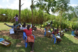The Water Project: Musango Community, Ham Mwenje Spring -  Practical Social Distancing At The Training