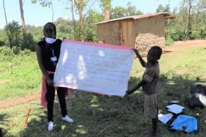 The Water Project: Muraka Community, Peter Itevete Spring -  A Sack With Covid Cautions Used At The Training