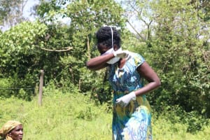 The Water Project: Isembe Community, Amwayi Spring -  And If You Have To Sneeze Or Cough Do It Inside Your Elbows