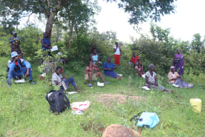 The Water Project: Isembe Community, Amwayi Spring -  Participants Following The Training