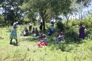 The Water Project: Isembe Community, Amwayi Spring -  The Facilitator Leading The Session