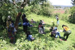 The Water Project: Isembe Community, Amwayi Spring -  Trainning In Session