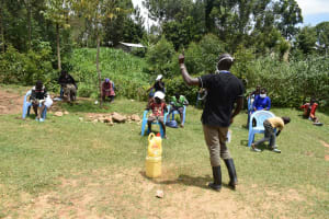 The Water Project: Emaka Community, Ateka Spring -  All Eyes On The Trainer