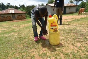 The Water Project: Emaka Community, Ateka Spring -  Clean Hands To Keep The Disease Away