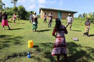 The Water Project: Koloch Community, Solomon Pendi Spring -  Social Distancing At The Training
