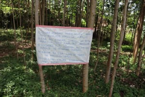 The Water Project: Samisbei Community, Isaac Rutoh Spring -  Installed Reminder Chart At The Spring