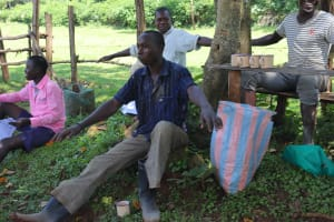 The Water Project: Samisbei Community, Isaac Rutoh Spring -  Simple Method Of Measuring Social Distance