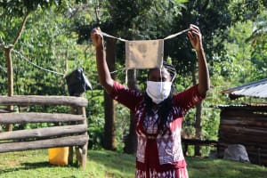 The Water Project: Koitabut Community, Henry Kichwen Spring -  A Sample Of Homemade Masks Made At The Training