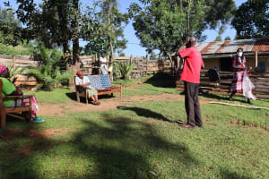 The Water Project: Koitabut Community, Henry Kichwen Spring -  An Elder Addressing The Participants