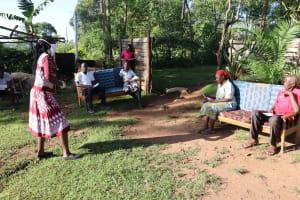 The Water Project: Koitabut Community, Henry Kichwen Spring -  Ongoing Covid Sensitization