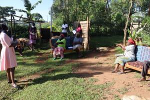 The Water Project: Koitabut Community, Henry Kichwen Spring -  Participants Following The Ten Steps Of Handwashing