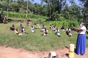 The Water Project: Bukhakunga Community, Khayati Spring -  Handwashing Demonstration