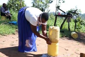 The Water Project: Bukhakunga Community, Khayati Spring -  Improvised Handwashing Point In The Community