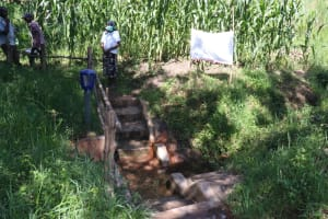 The Water Project: Bukhakunga Community, Khayati Spring -  Installed Reminder Chart At The Spring