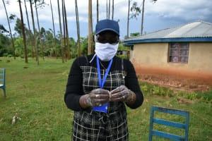 The Water Project: Sichinji Community, Makhatse Spring -  Proper Handwashing Demonstrations With Soap