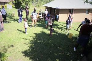 The Water Project: Bukhakunga Community, Mukomari Spring -  Participants Social Distancing