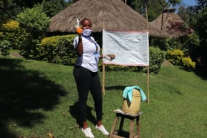 The Water Project: Bukhakunga Community, Mukomari Spring -  Use Of Soap Is Important In Breaking Down The Virus