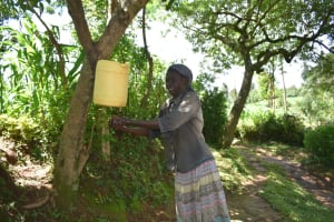 The Water Project: Wajumba Community, Wajumba Spring -  Handwashing Point Installed In The Community
