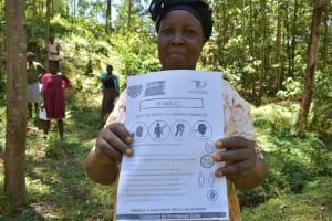 The Water Project: Wajumba Community, Wajumba Spring -  Use Of Handouts At The Training