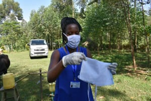The Water Project: Musango Community, Mwichinga Spring -  Mask Making At Home