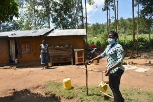 The Water Project: Musango Community, Mushikhulu Spring -  A Complete Handwashing Station Made At The Training