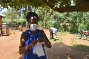 The Water Project: Musango Community, Mushikhulu Spring -  Mask Making At Home