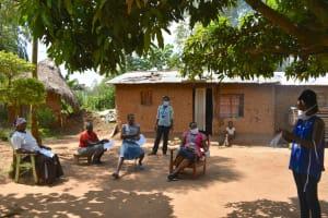 The Water Project: Musango Community, Mushikhulu Spring -  Mask Making Process