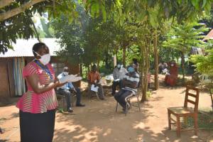 The Water Project: Musango Community, Mushikhulu Spring -  Ongoing Covid Sensitization