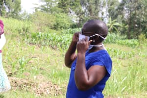 The Water Project: Mukhuyu Community, Kwawanzala Spring -  Always Wear A Mask Whenever You Leave Your House