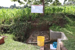 The Water Project: Mukhuyu Community, Kwawanzala Spring -  The Reminder Chart At Kwawanzala Spring