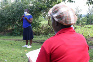 The Water Project: Mukhuyu Community, Kwakhalakayi Spring -  Trainer Janet Leads The Session