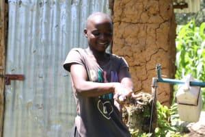 The Water Project: Imbinga Community, Arunga Spring -  Handwashing Demonstration