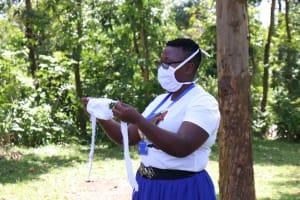 The Water Project: Imbinga Community, Arunga Spring -  Sample Of A Homemade Mask