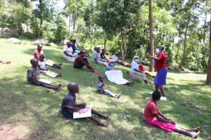 The Water Project: Imbinga Community, Arunga Spring -  Social Distancing At The Training