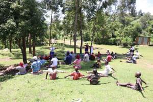 The Water Project: Imbinga Community, Arunga Spring -  Social Distancing Check