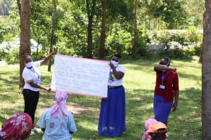 The Water Project: Imbinga Community, Arunga Spring -  Use Of Reminder Charts At The Training