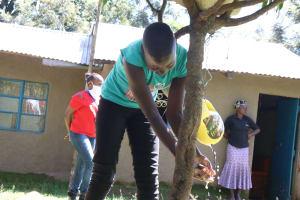 The Water Project: Kambiri Community, Sachita Spring -  Handwashing Demonstration