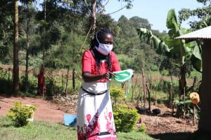 The Water Project: Kambiri Community, Sachita Spring -  Sample Mask Made At Training