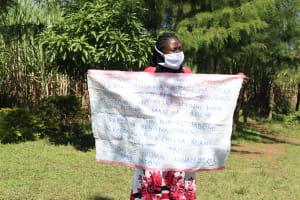 The Water Project: Kambiri Community, Sachita Spring -  Using Charts And Visual Aids At The Training