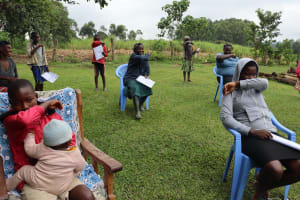 The Water Project: Bung'onye Community, Shilangu Spring -  Bend Elbow Cough