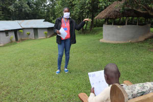 The Water Project: Bung'onye Community, Shilangu Spring -  Ms Masinde On The Frontline War