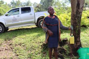The Water Project: Mubinga Community, Mulutondo Spring -  A Handwashing Point In The Community