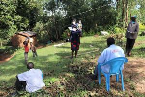 The Water Project: Mubinga Community, Mulutondo Spring -  Conducting Covid Sensitization At Mulutondo Community