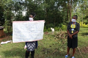 The Water Project: Mubinga Community, Mulutondo Spring -  Facilitators Using Reminder Charts At The Training