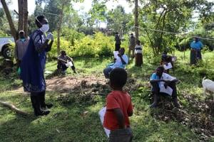 The Water Project: Mubinga Community, Mulutondo Spring -  Illustration On Proper Mask Wearing
