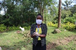 The Water Project: Mubinga Community, Mulutondo Spring -  Masinde Conducting Sensitization On Covid
