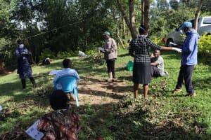 The Water Project: Mubinga Community, Mulutondo Spring -  Participants Attending Covid Sensitization